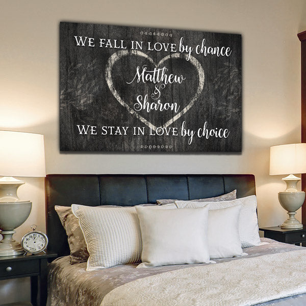 "Personalized ""We Fall In Love By Chance"" Premium Canvas Wall Art"