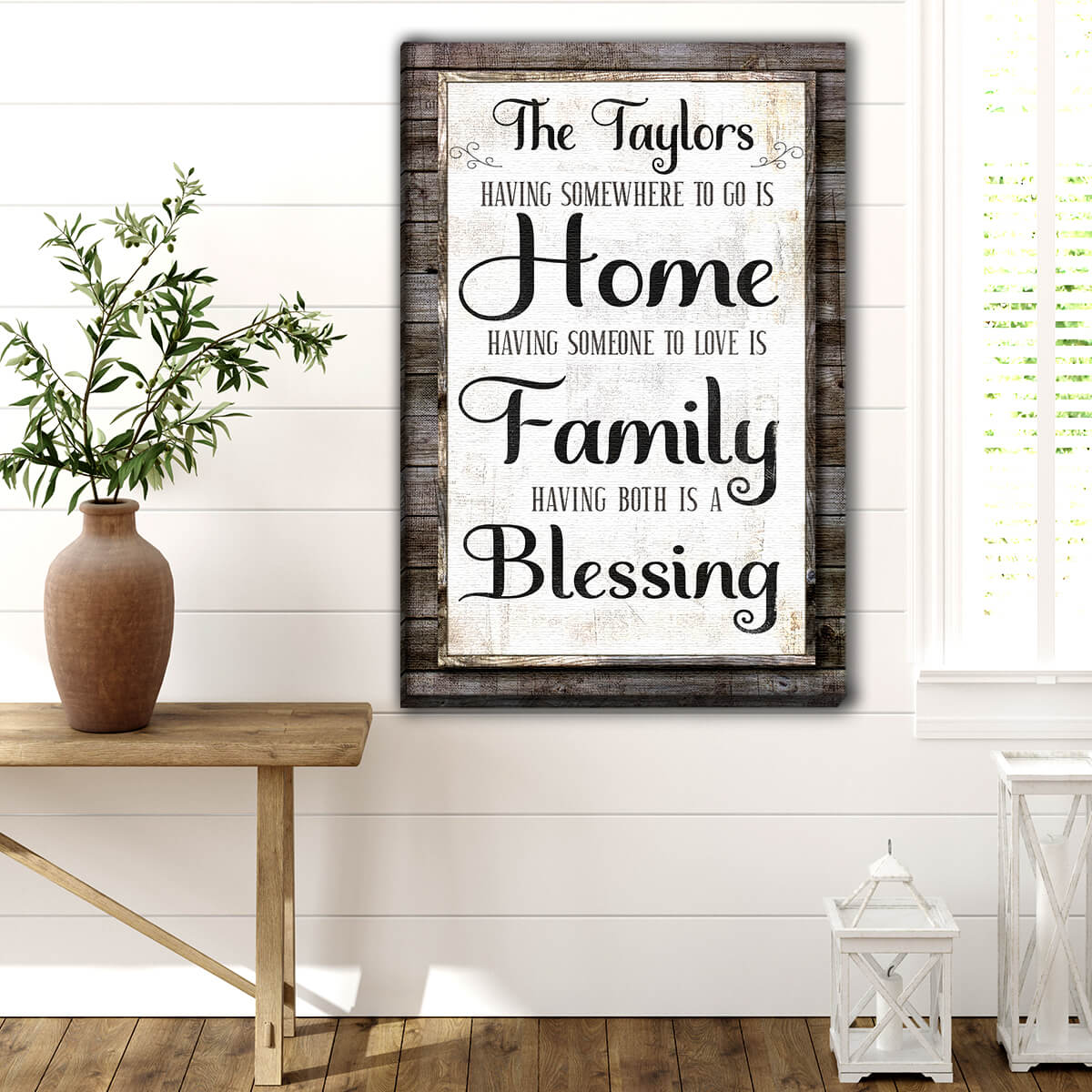 "Personalized ""Having Somewhere To Go Is Home"" Premium Canvas"