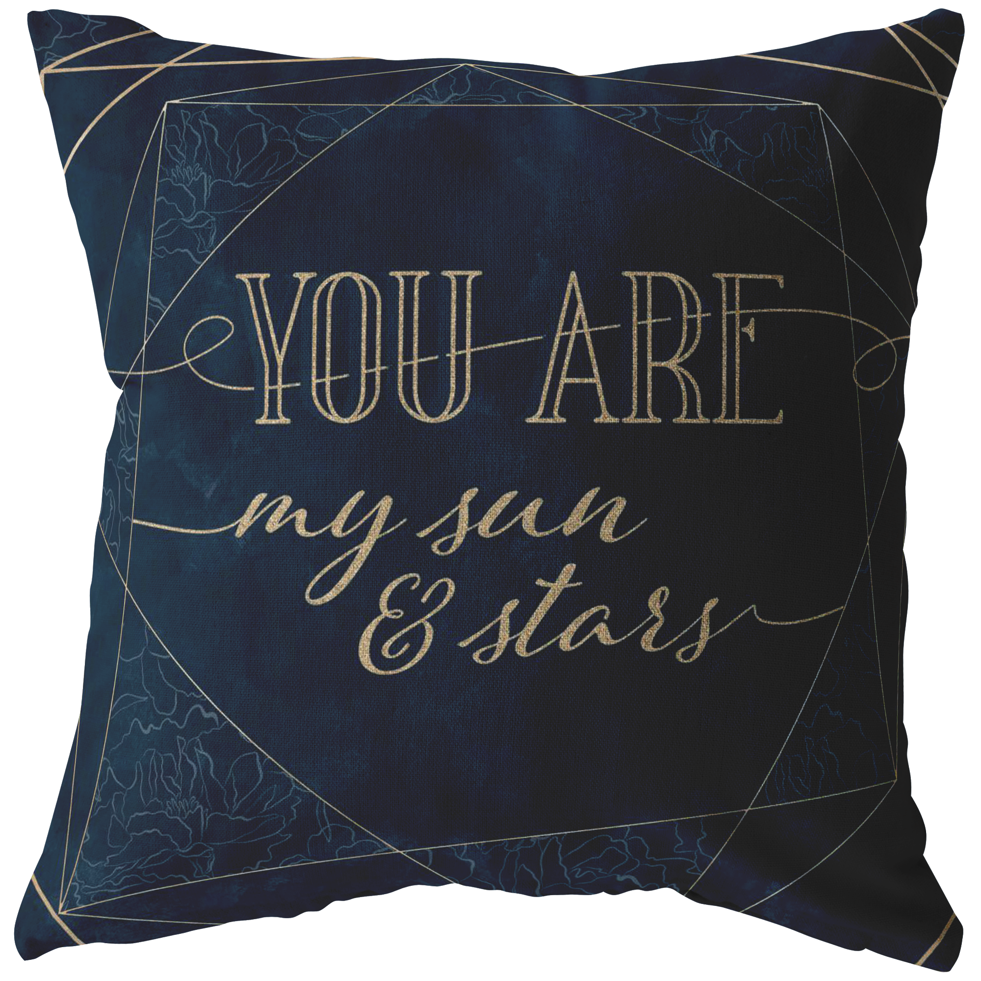 """You Are My Sun And Stars"" Pillow"