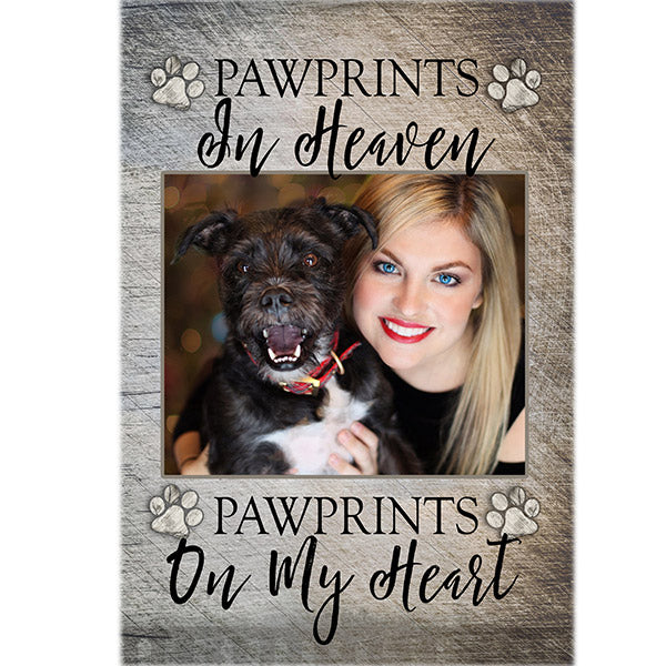 "Photo Personalized ""Pawprints in Heaven"" Premium Canvas"