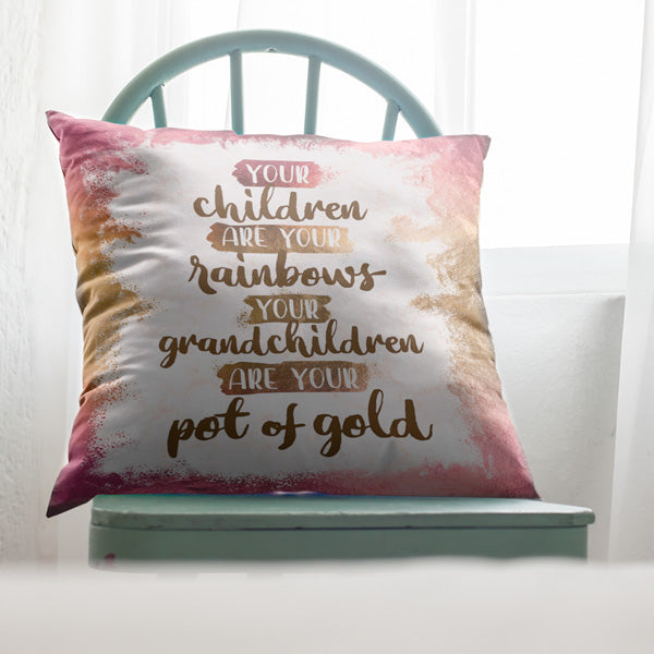 """Grandchildren Are Your Pot Of Gold"" Pillow"
