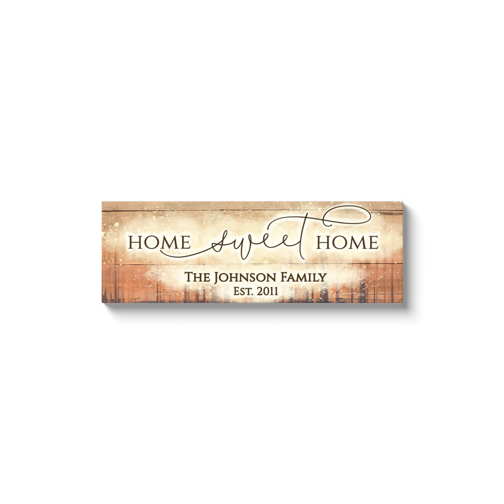 Personalized Home Sweet Home Panoramic Wall Art
