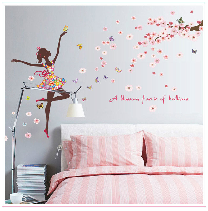 Dancing Butterfly Fairy Wall Decoration