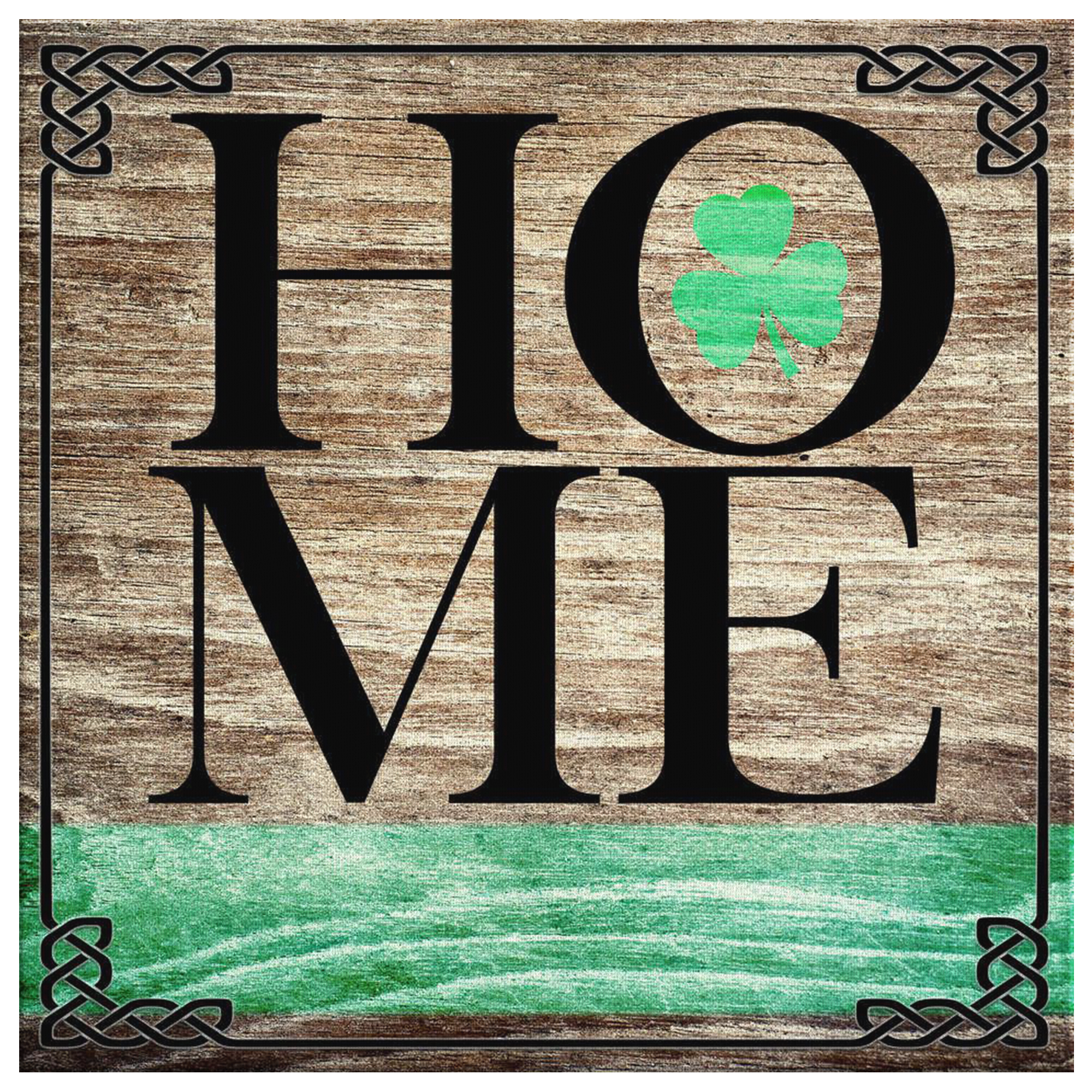 "Personalized ""Irish Home"" Premium Canvas"