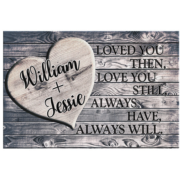 "Personalized ""Loved You Then, Love You Still"" Premium Canvas"