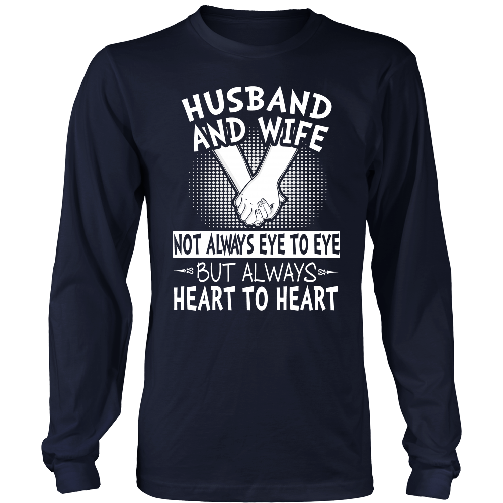 """Heart To Heart - Husband and Wife"" Shirts"
