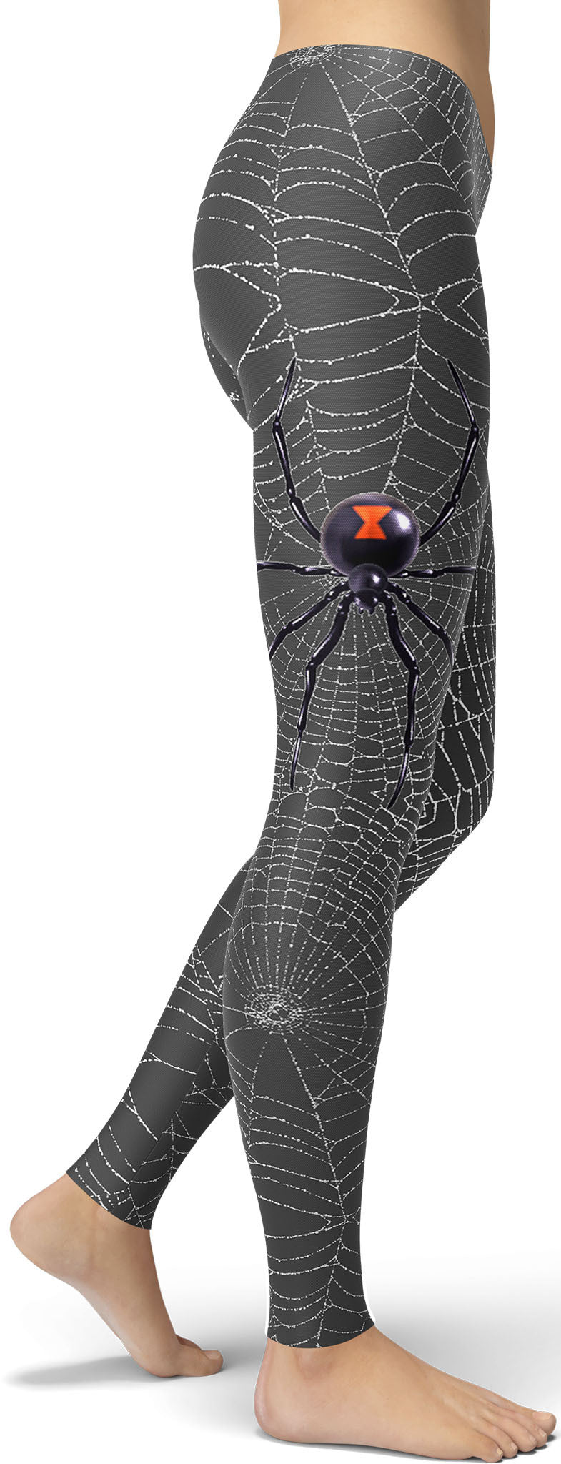 Black Widow Spider Web Leggings