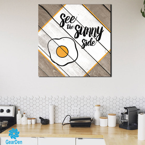 """See The Sunny Side"" Premium Canvas wall art for kitchen"