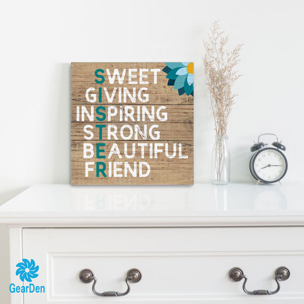 """Sister - Sweet Giving"" Canvas Wall Art"