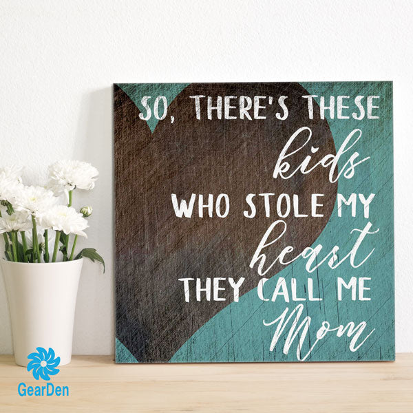 """These Kids Who Stole My Heart"" Canvas Wall Art"