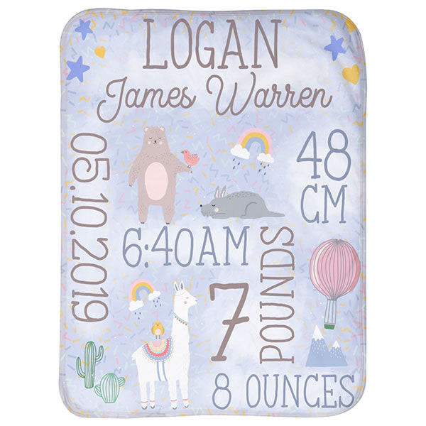 Personalized Premium Baby Blanket