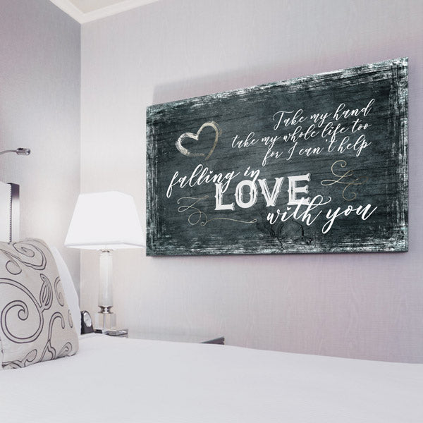 """Take My Hand, My Whole Life Too"" Premium Canvas Wall Art"