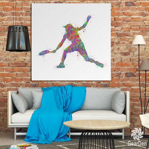 """Water Color Tennis"" Premium Canvas"
