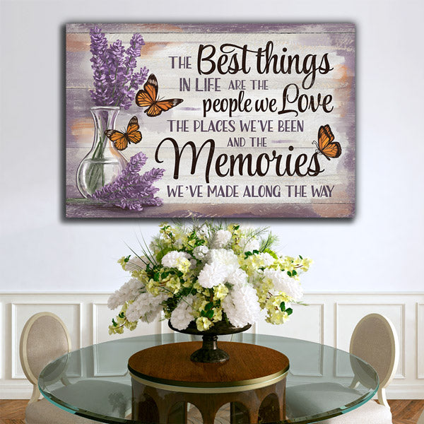 """The Best Things - People, Places, Memories"" Premium Canvas"