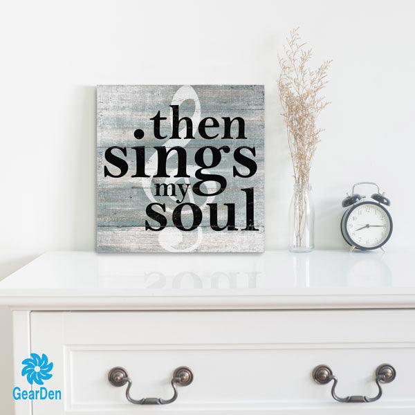 """Then Sings My Soul"" Premium Canvas"