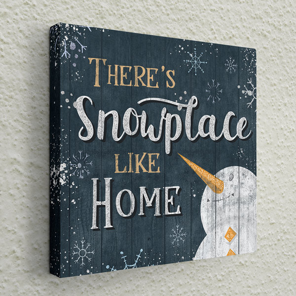 """There's Snowplace Like Home"" Christmas Premium Canvas Wall Art"