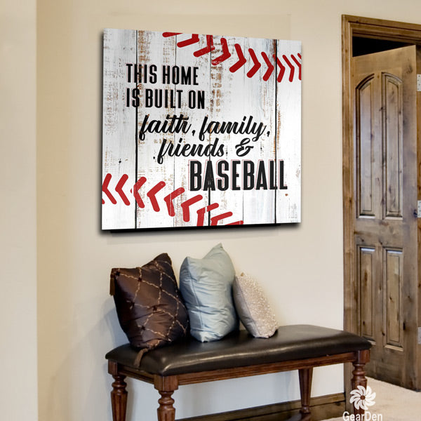 """Built On Baseball"" Canvas Wall Art"