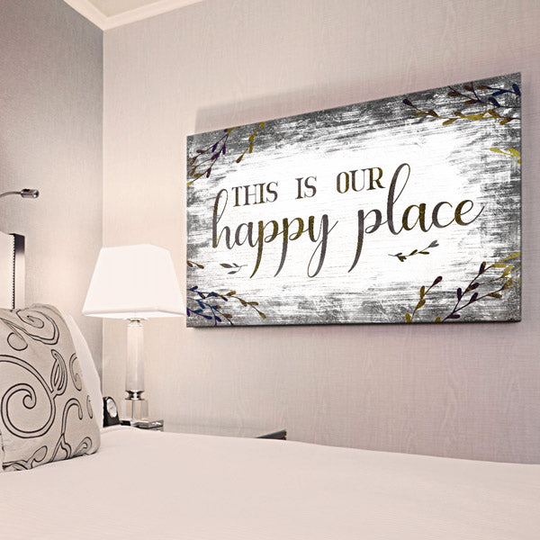 """This is Our Happy Place"" Premium Canvas Wall Art"