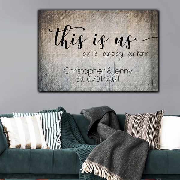 "Personalized ""This Is Us - Our Home"" Premium Canvas"