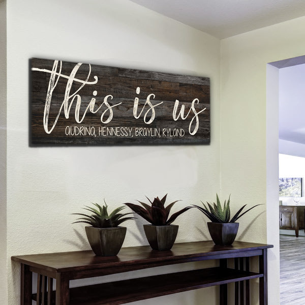 "Personalized ""This Is Us"" Premium Panoramic Canvas"