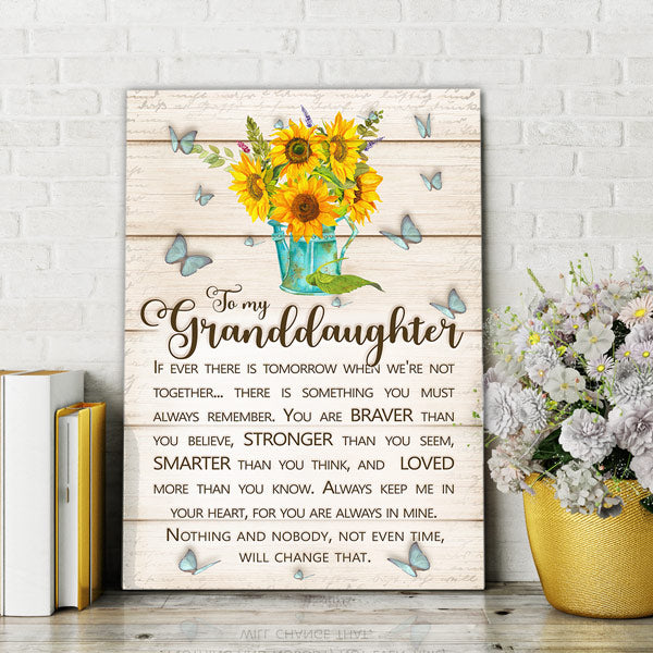 """To My Granddaughter - Always Remember.."" Premium Canvas"