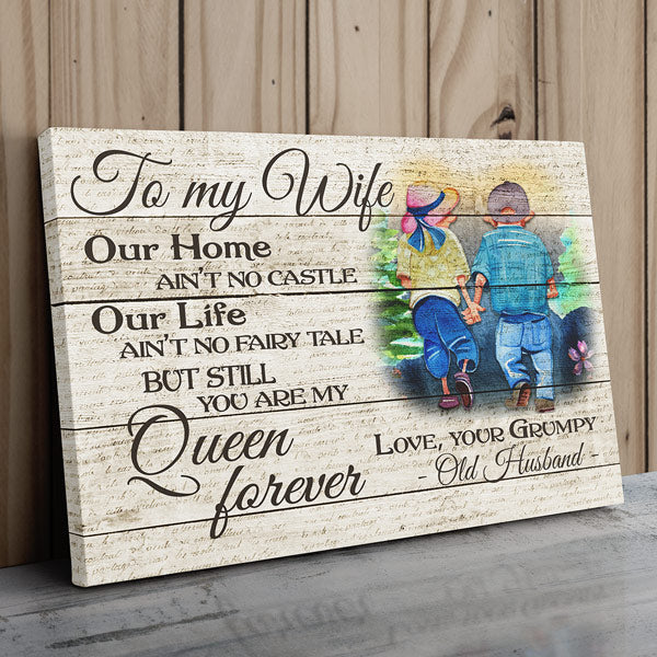 """To My Wife - You Are My Queen"" Premium Canvas Wall Art"