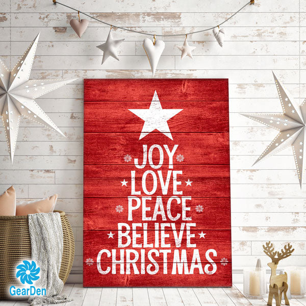 """Joy, Love ... Christmas"" Premium Canvas"