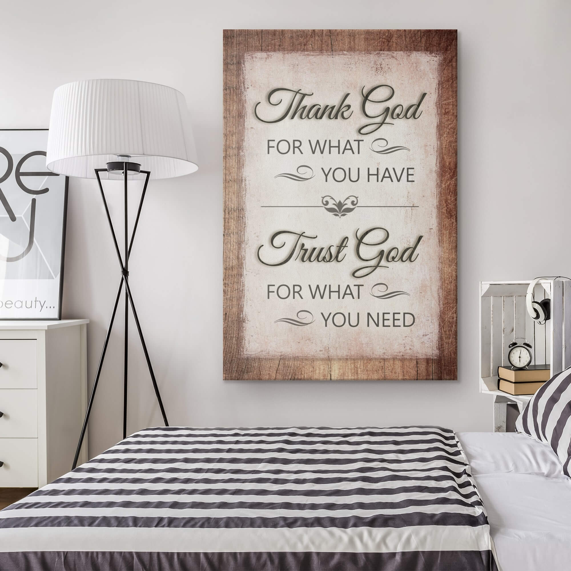 """Thank God For What You Have"" Premium Canvas v2"