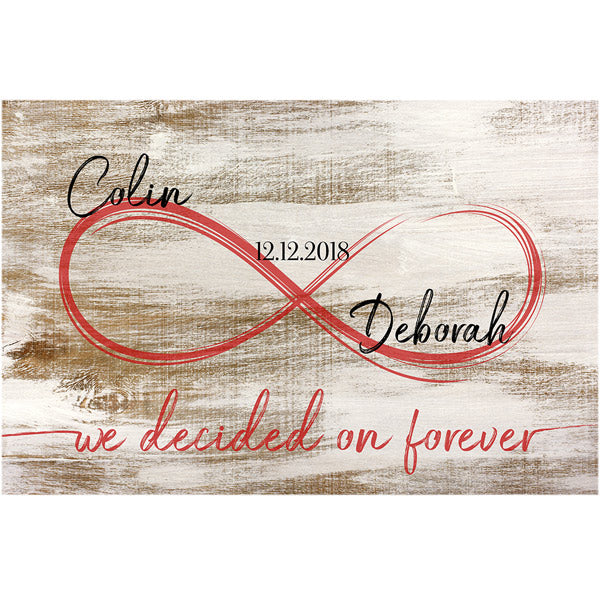 "Personalized ""We Decided On Forever"" Premium Canvas"