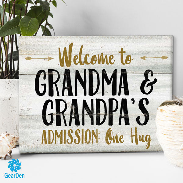 """Grandma And Grandpa's"" Premium Canvas"