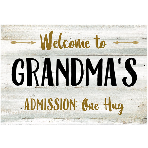 "Personalized ""Welcome To Grandma's"" Premium Canvas"
