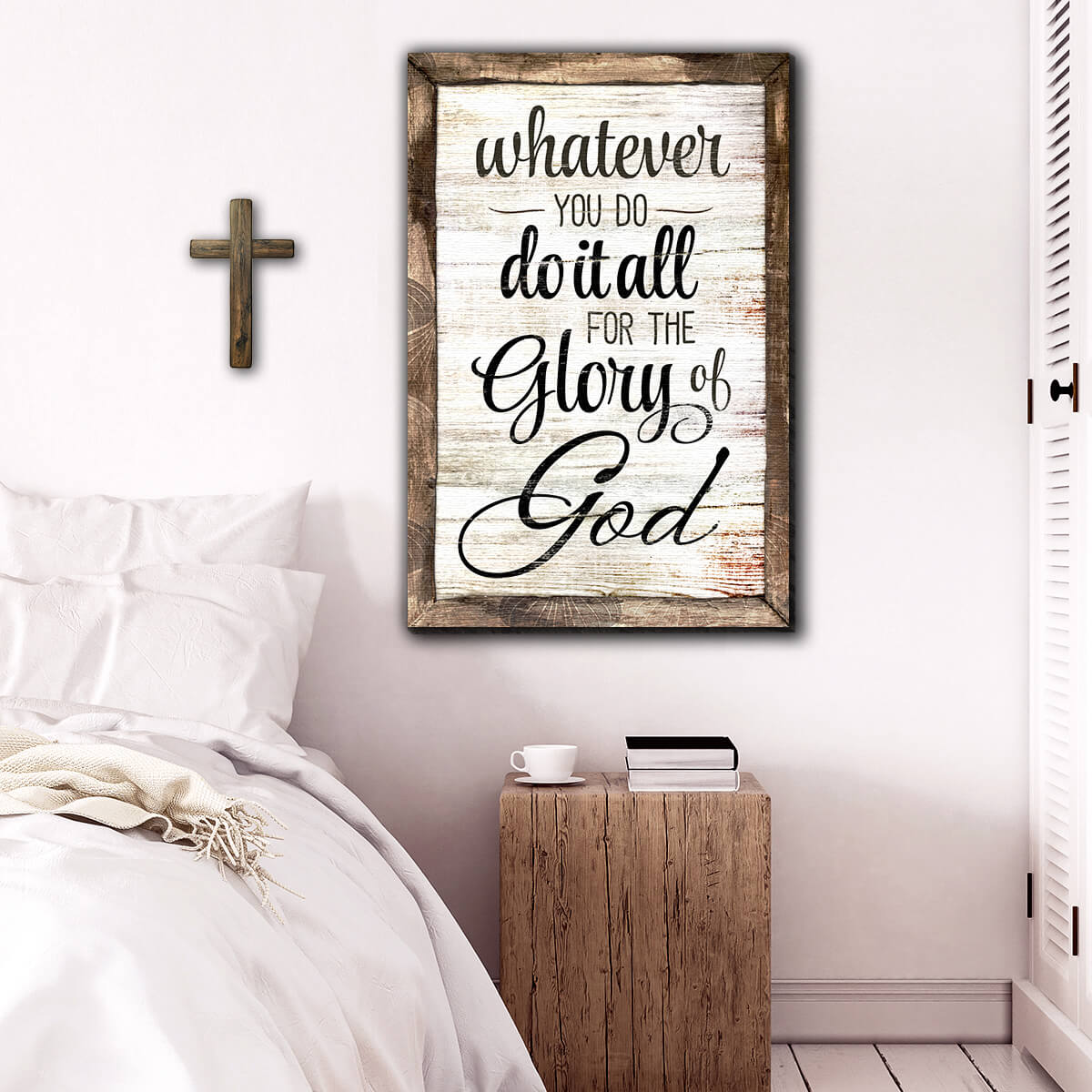 """Do It All For The Glory Of God"" Premium Canvas Wall Art"