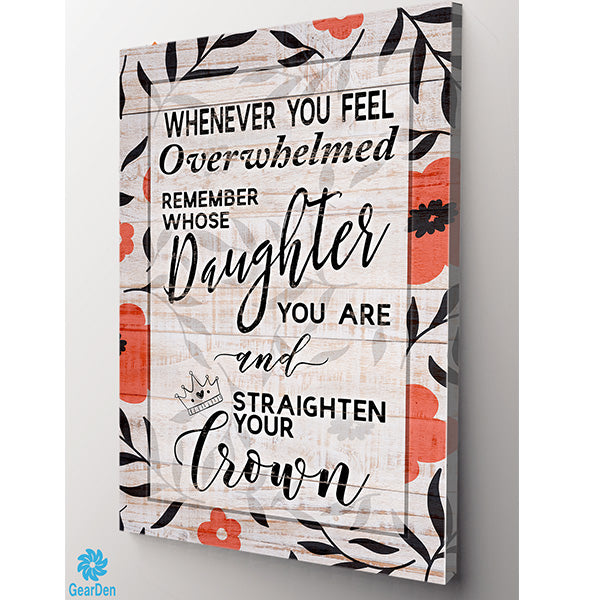 """Straighten Your Crown"" Canvas Wall Art"
