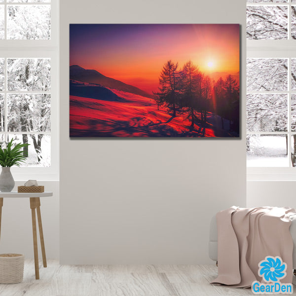"""Winter Sunset"" Premium Canvas"