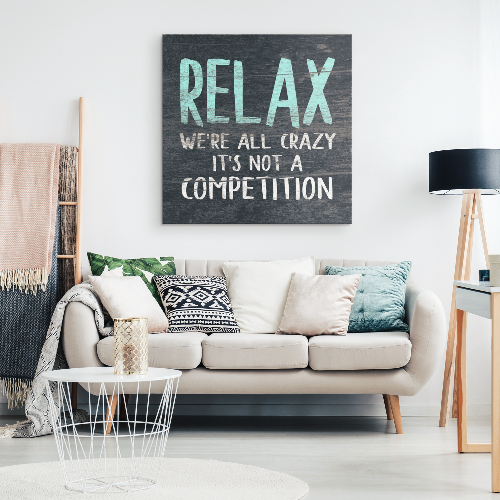"""Relax We're All Crazy..."" Premium Canvas"