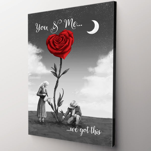 """You & Me... We Got This"" Premium Canvas Wall Art"