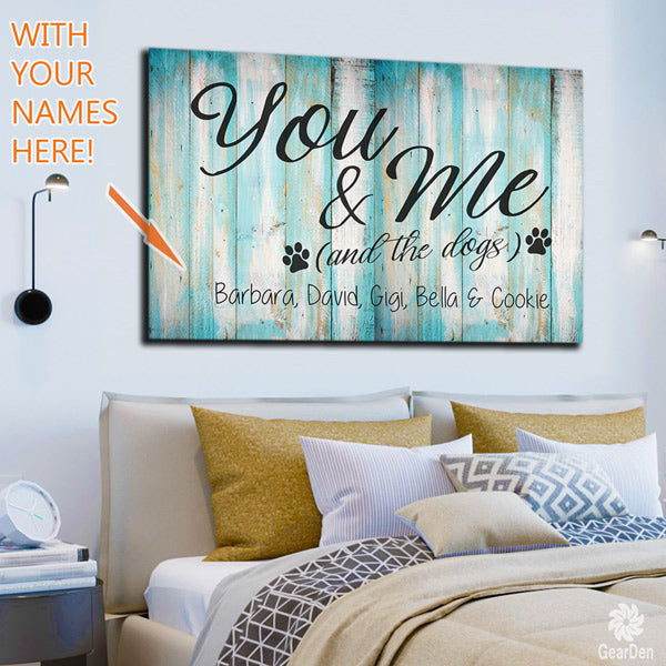 you-me-and-the-dogs-personalized-wall-art-sample
