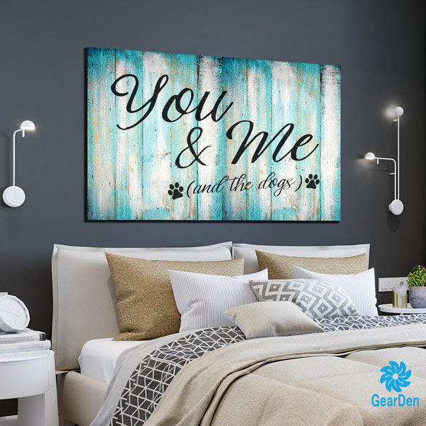 You & Me (And the Dogs) Premium Canvas