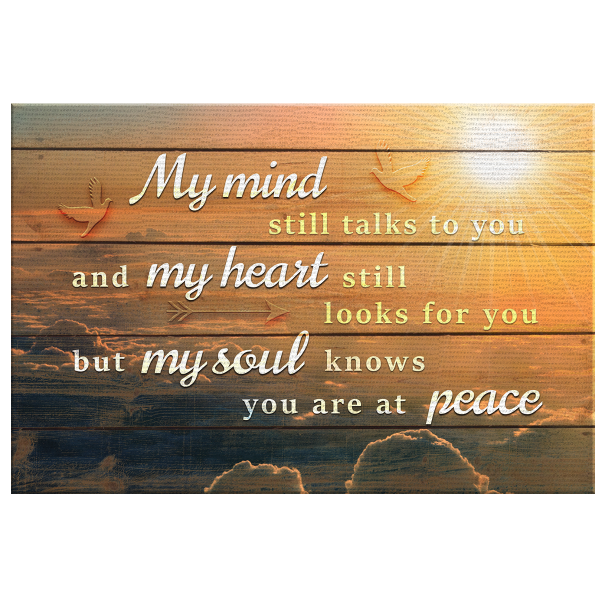"Personalized ""My Soul Knows You Are At Peace"" Memorial Premium Canvas"