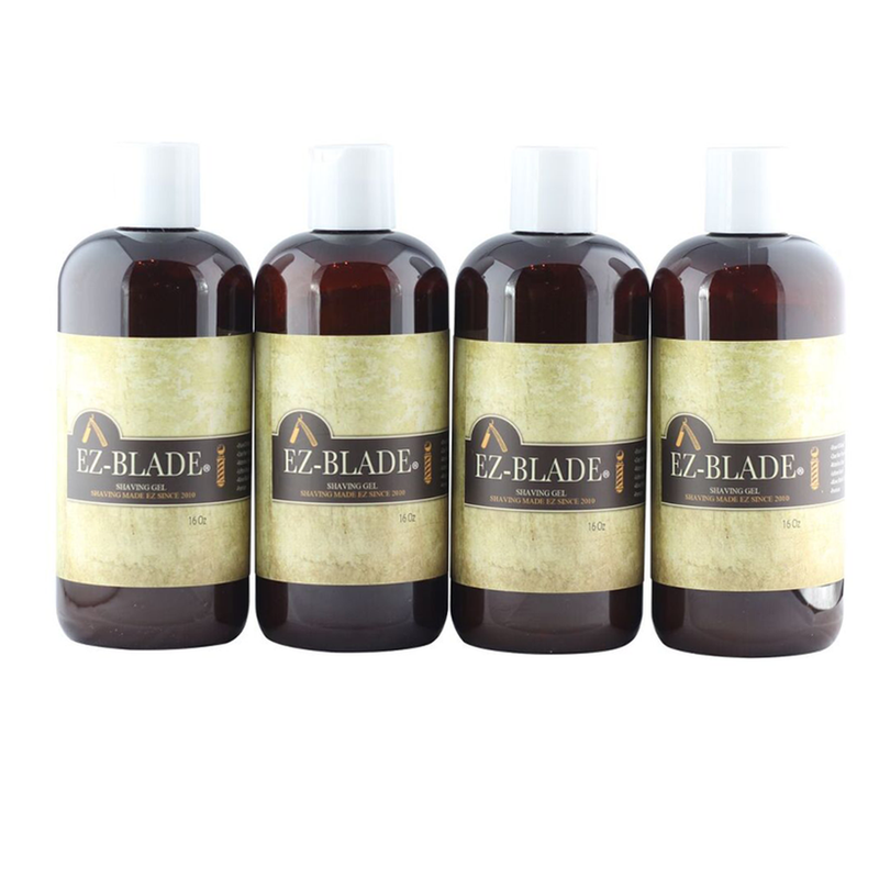 4 Pcs / 16 oz Shaving Gel - EZ BLADE Shaving Products