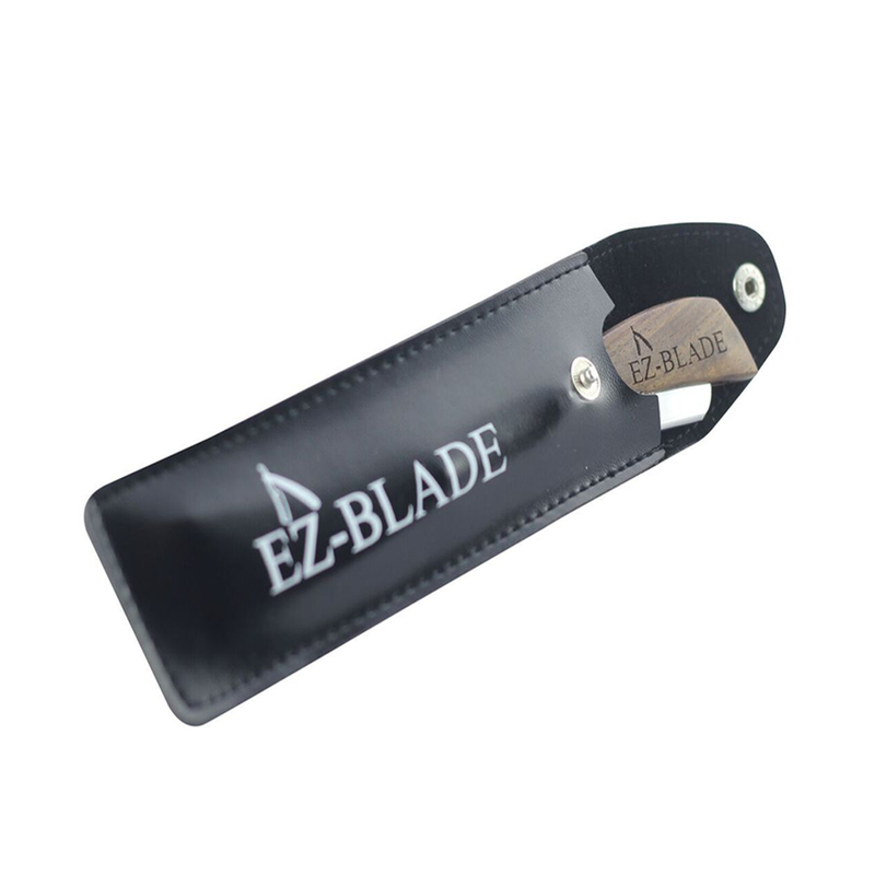 Wood Handel Straight Edge Razor - EZ BLADE Shaving Products