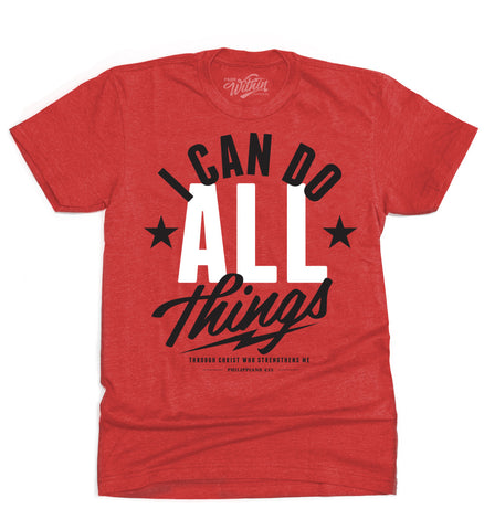 I Can Do All Things T shirt - Red
