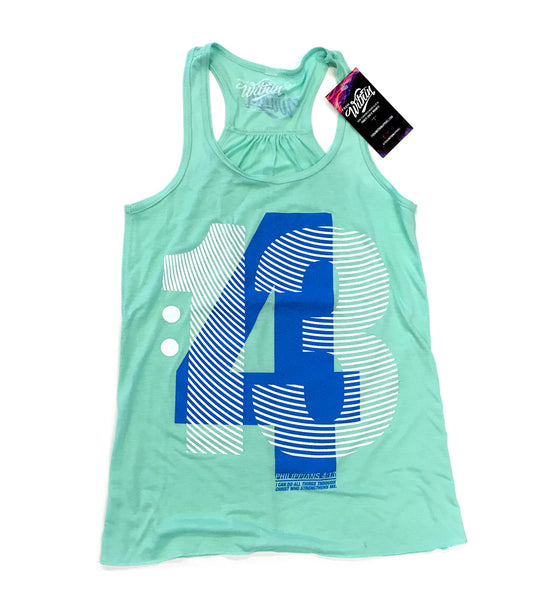 Womens Philippians 4:13 Mint Racerback Tank Top