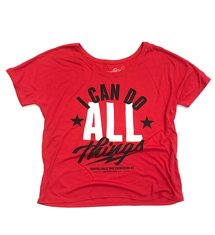 Womens I Can Do ALL Things Flowy T Shirt