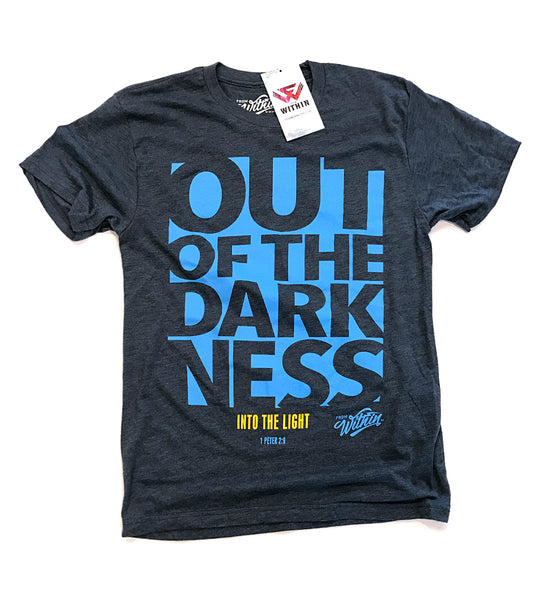 Out Of The Darkness T Shirt - Blue