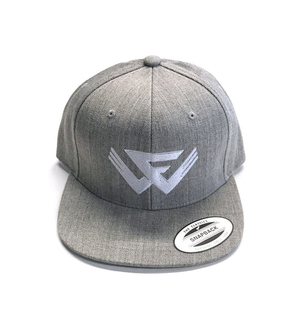 FW Logo Snap Back Hat - Grey/White