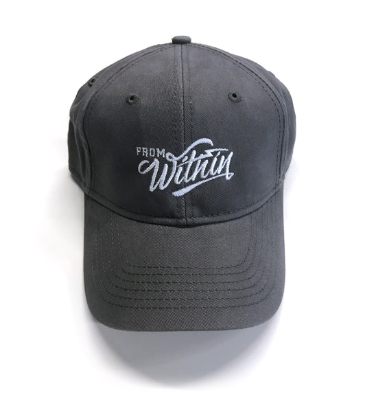 From Within Script Logo Vintage Grey Dad Hat