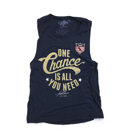 Womens One Chance Is All You Need Flowy Tank Top