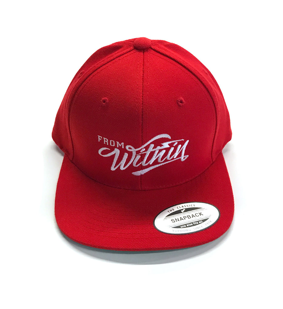 From Within FW Logo Snap Back Hat - Red/White