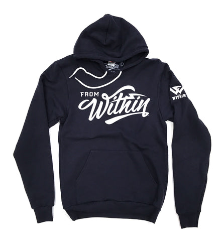 Navy Blue From Within Script Logo Sweatshirt